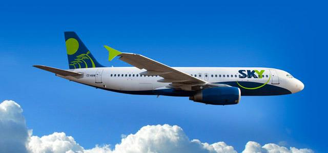 A cia Sky Airline estará à sua disposição na sua viagem para o Chile