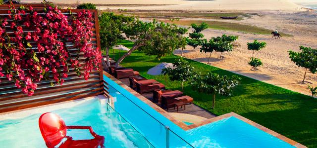 No Essenza Hotel você poderá curtir a vista da duna