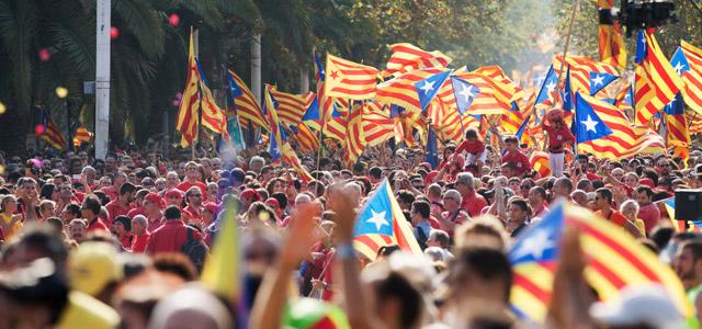 Manifestação a favor da criação do Estado da Catalunha