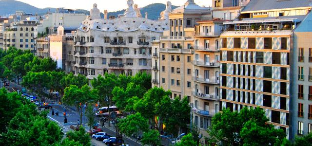 Passeig de Gràcia, na cidade de Barcelona