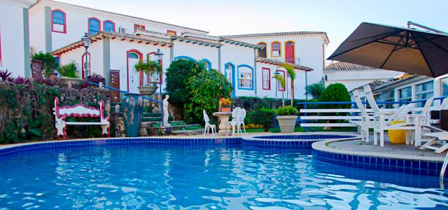 A piscina da Pousada Pequena Tiradentes é só uma das muitas atrações da pousada