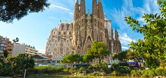 Catedral da Sagrada Família, na cidade de Barcelona