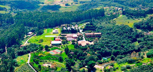 Vista aérea do Hotel Villa Rossa