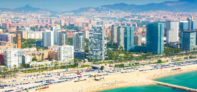 Uma belíssima vista da cidade de Barcelona