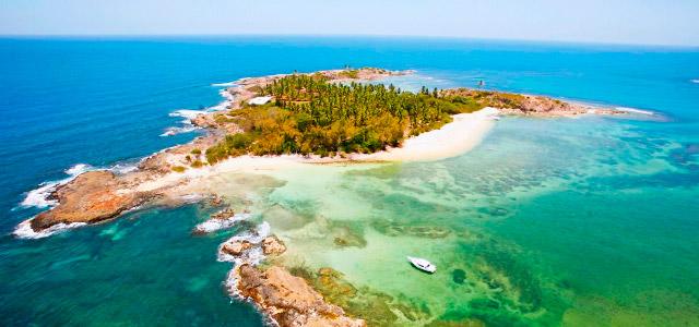 A bela vista aérea do Serrambi Resort