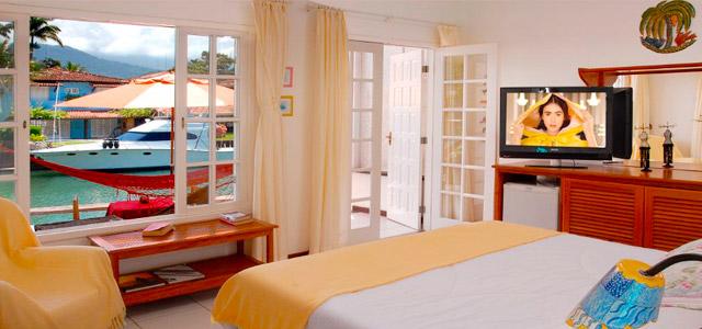 Desfrute de uma hospedagem romântica ao extremo no Angra dos Reis Boutique Hotel.