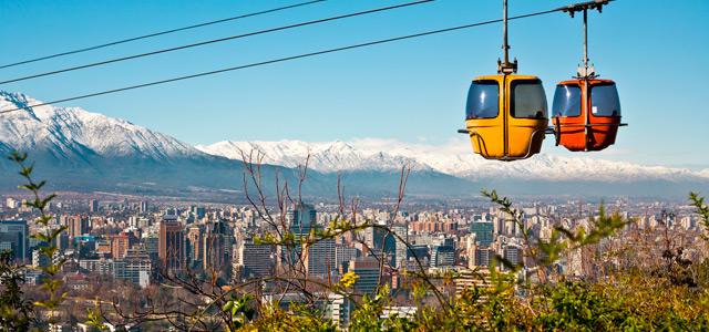 Vista maravilhosa de Santiago