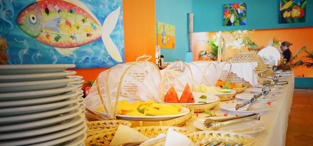 Café da manhã de primeira no Siri Paraíso Hotel