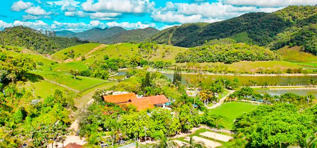 A vista do Fazzenda Park Hotel