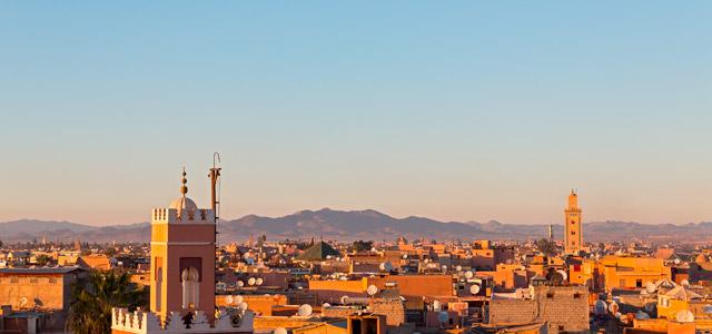 Linda vista de Marrakech
