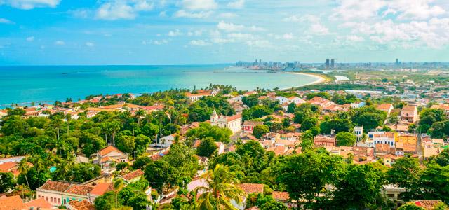 Vista de Olinda e Praia de Itamaracá