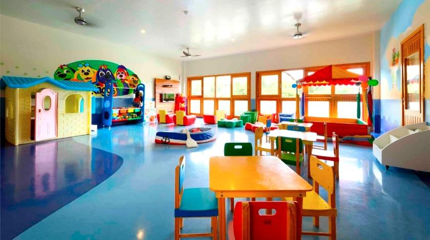 Área kids para crianças de 1 a 3 anos