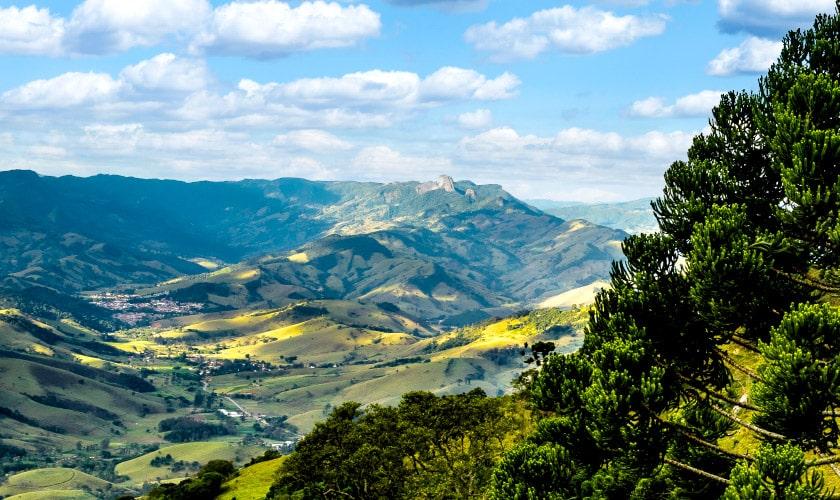 Vista dos montes de Itapeva