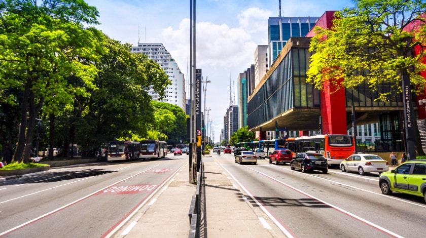 Vista para a Avenida Paulista e o MASP, dois dos pontos turísticos mais famosos de São Paulo