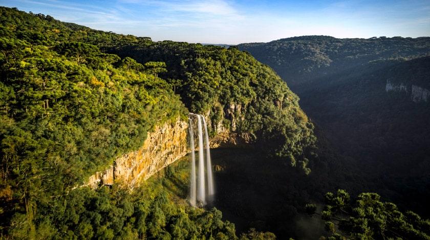 Cascata do Caracol. em Canela, no Rio Grande do Sul