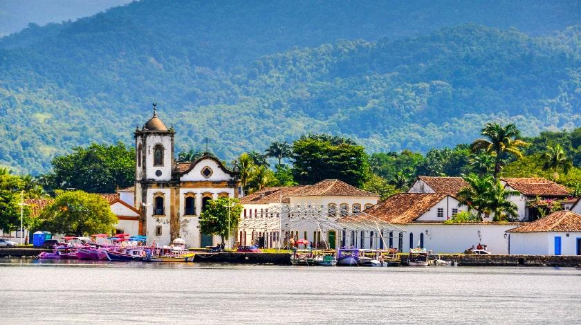 Vista geral para o Centro Histórico de Paraty, no Rio de Janeiro