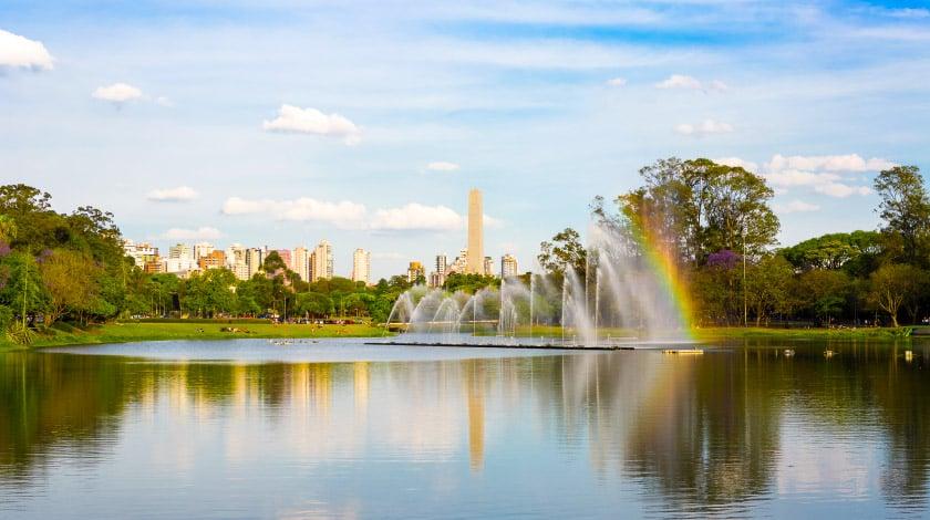 Vista geral para Parque do Ibirapuera, em São Paulo