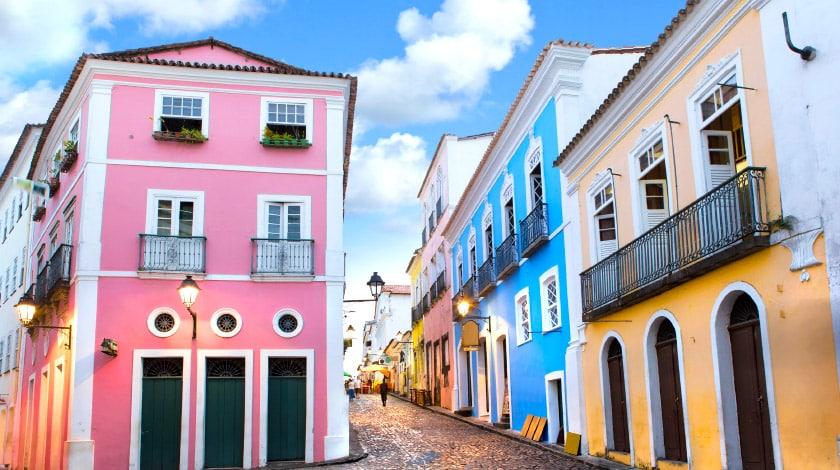 Casas coloridas do Pelourinho, ponto turístico Bahia