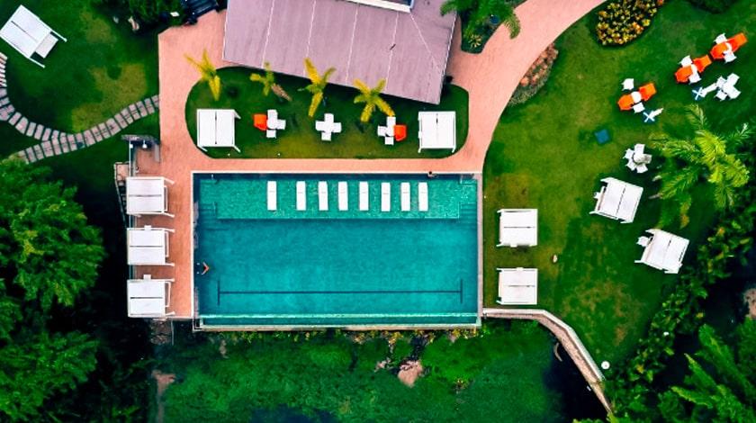 Vista aérea do Club Med La Reserve