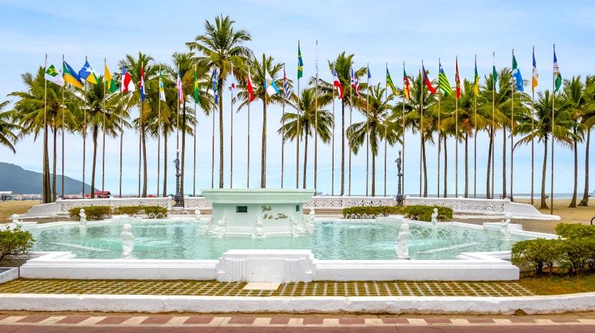 Praça das Bandeiras - Santos