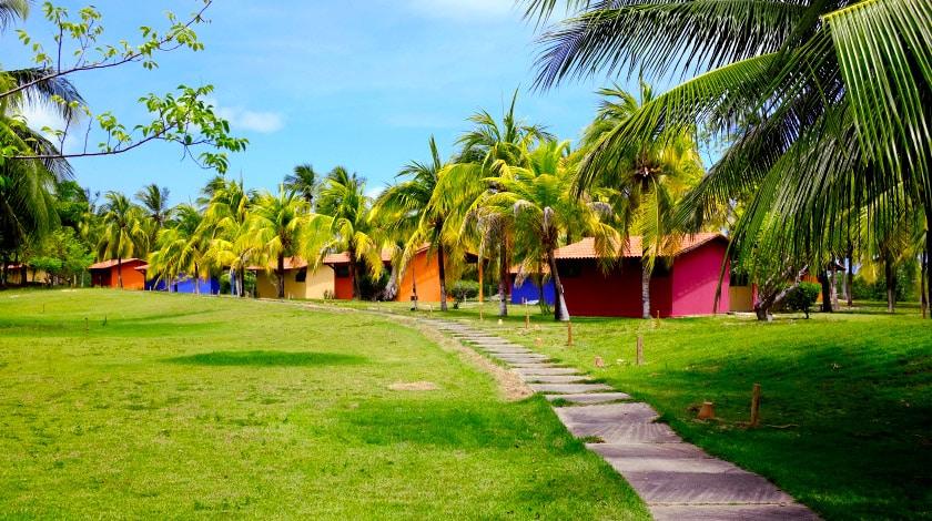 Acomodações do Angá Beach Hotel, em São Miguel dos Milagres