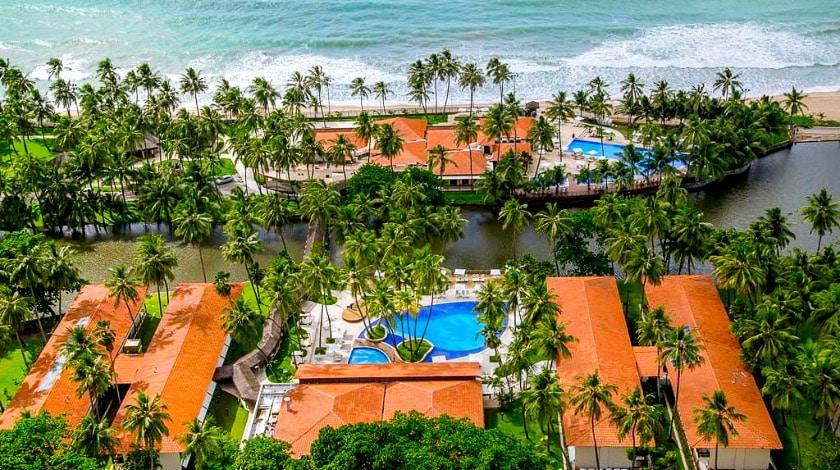 Vista aérea Jatiúca Resort, em Maceió