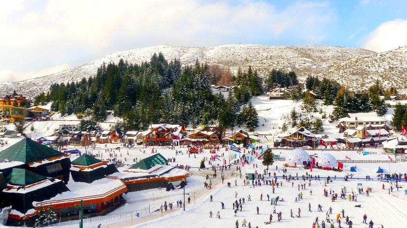 Temporada de neve em Bariloche, na Argentina