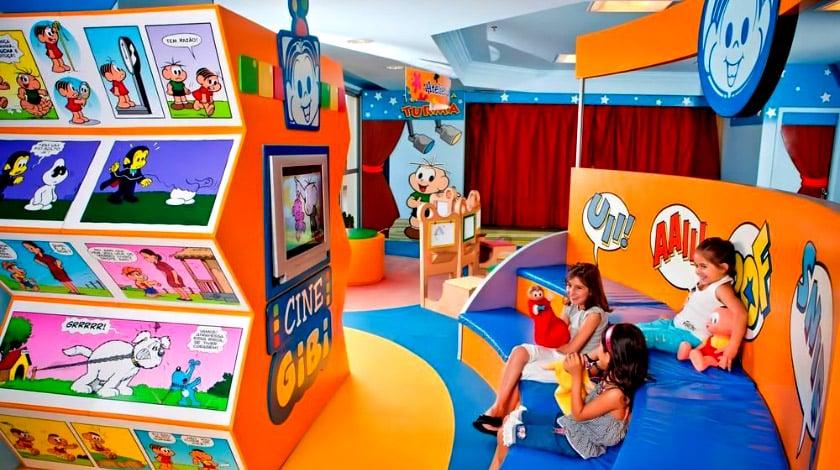 Kids Club Espaço Turma da Mônica, nos resorts Bourbon