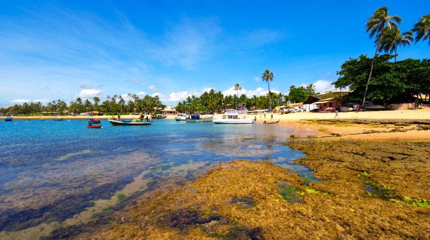 Piscinas naturais na Praia do Forte, Bahia