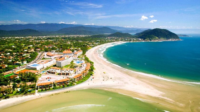 Vista geral do Sofitel Guarujá Jequitimar, hotel na promoção SP Trip
