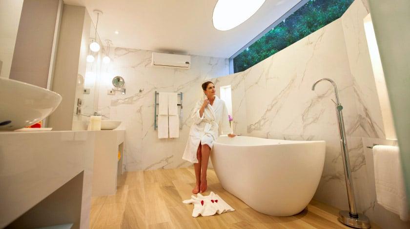 Banheiro da acomodação do Club Med La Réserve