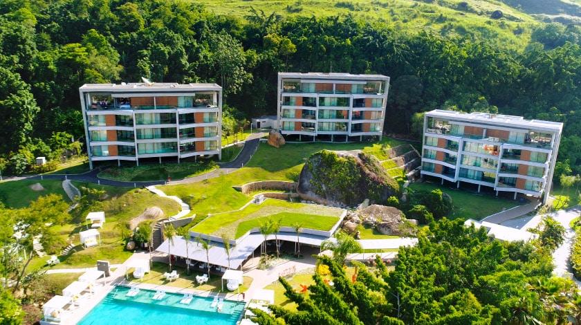 Vista geral do Club Med La Réserve, um dos mais exclusivos resorts All-Inclusive para casais