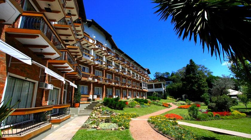 Fachada do Hotel Alpestre, em Gramado