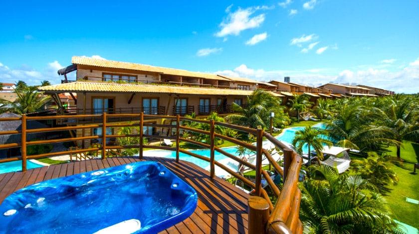 Vista para as piscinas da Praia Bonita Resort, All-Inclusive ideal para casais