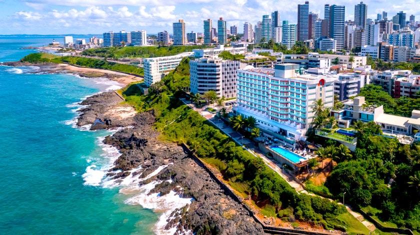 Vista geral do Vila Galé Salvador, na Bahia