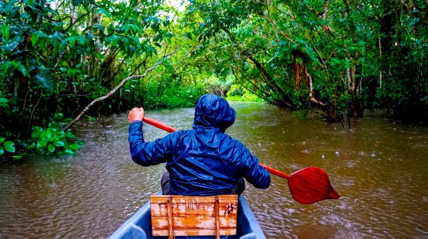 Passeio de barco na Amazônia