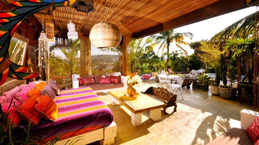 Área comum do Aquabarra Boutique Hotel, hospedagem de charme para a lua de mel