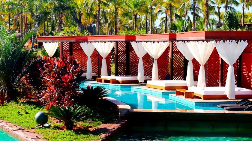 Santa Carolina Lounge, espaço reservado do parque Hot Beach