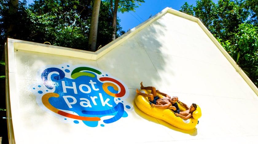 Half Pipe do Hot Park, parque aquático do Rio Quente