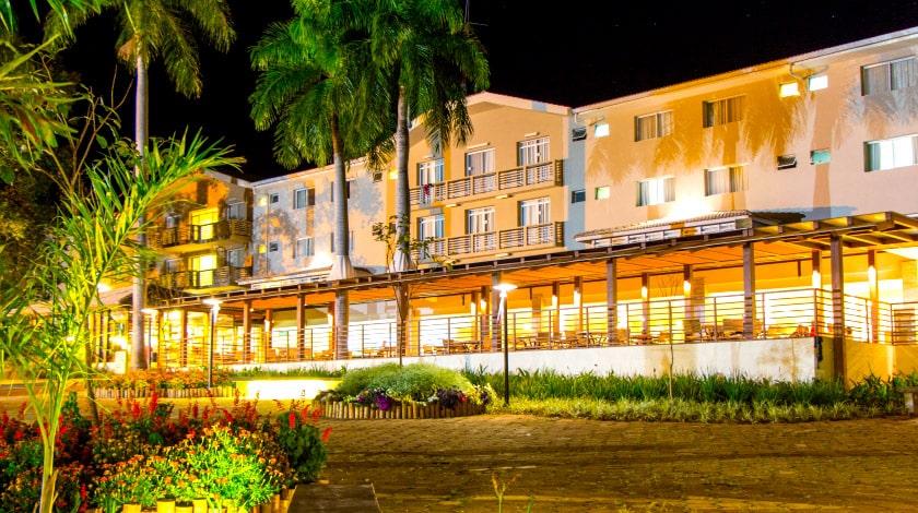 Fachada do Hotel Pousada, primeira hospedagem do Rio Quente