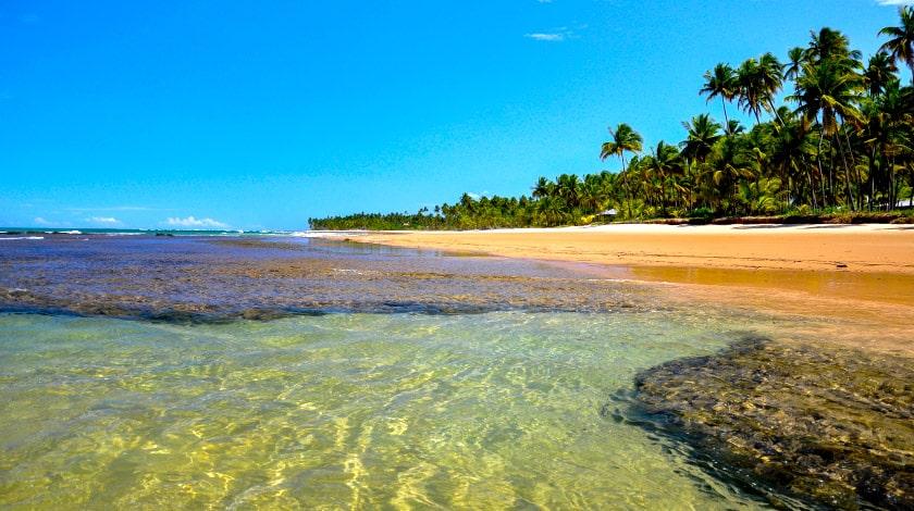 Praia Taipu de Fora, na Bahia