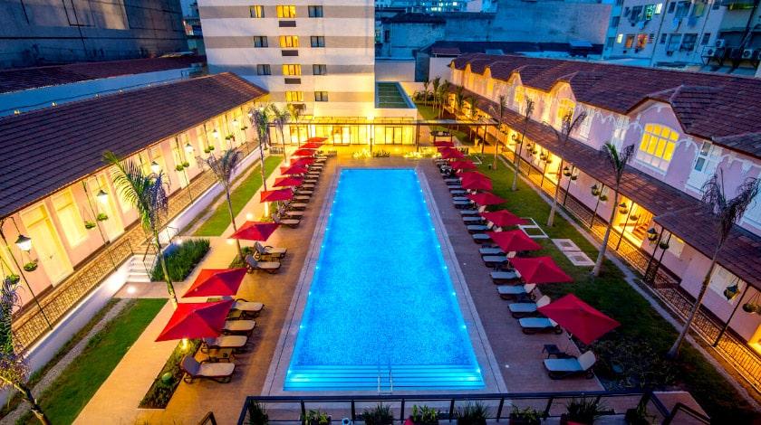 Vista aérea do Vila Galé Rio, hotel charmoso para a lua de mel