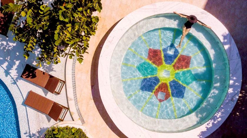 Vista aérea do Vogal Luxury, hotel perfeito para lua de mel
