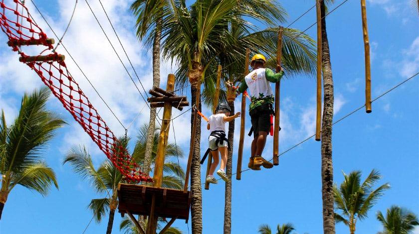 Cana Adventure, circuito com arvorismo e tirolesa do Cana Brava Resort