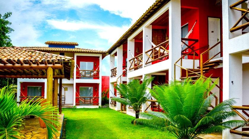 Acomodações do HTL Terra Mar, hotel em Maraú, com descontos da Bahia Week