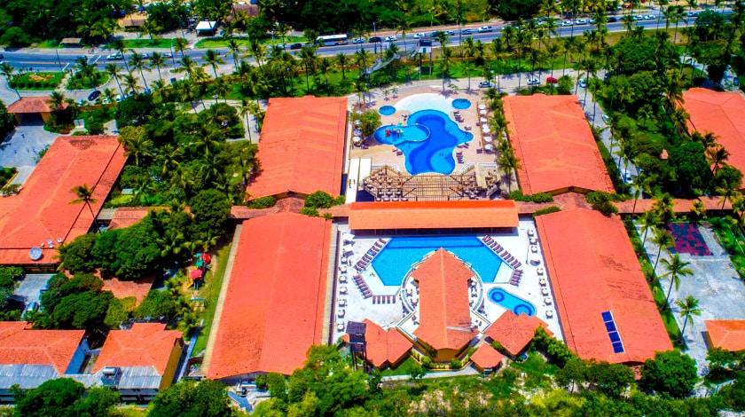 Vista aérea do Porto Seguro Praia Resort, oferta do Zarpo da Bahia Week
