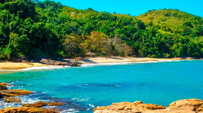 Praia do Cedro, em Ubatuba, Litoral de São Paulo