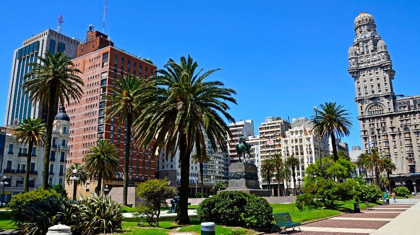 Plaza Independencia, em Santiago do Chile