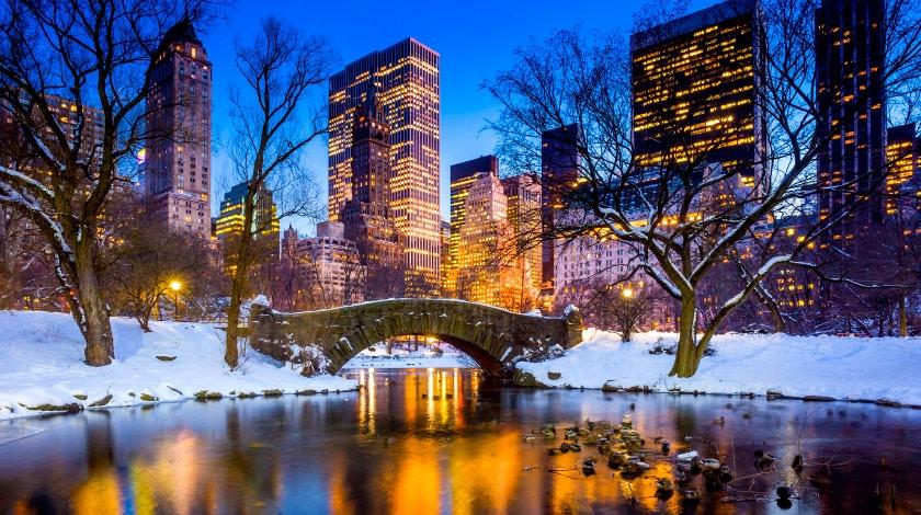Central Park. Férias de janeiro