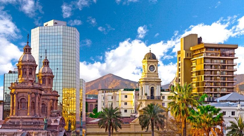 Arquitetura do centro de Santigado do Chile